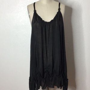 Free People Black Top Dress S/P